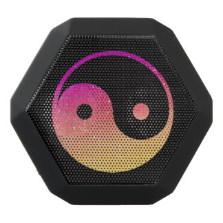 Rosa orange und schwarzer Yin Yang Boombot REX Schwarze Bluetooth Lautsprecher