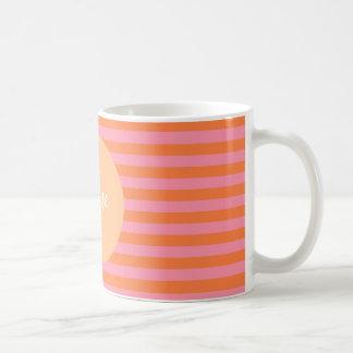 Rosa Orange zeichnet personalisierte Tasse