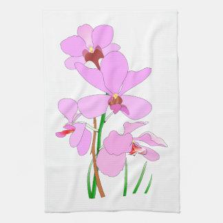 Rosa Orchidee Geschirrtuch