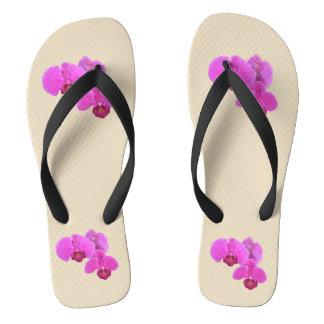 Rosa Orchideen Flip Flops