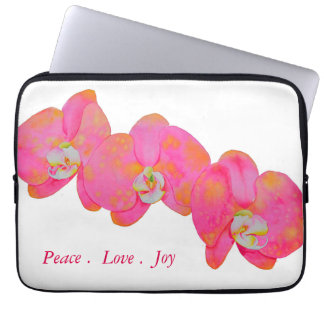 Rosa Orchideen Laptop Sleeve