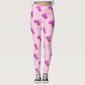Rosa Orchideen Leggings