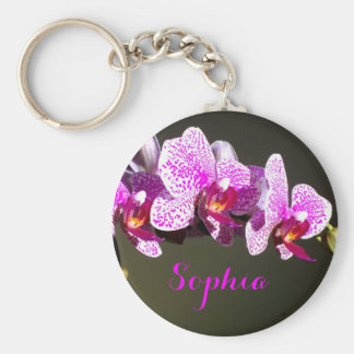Rosa Orchideen - Monogramm Schlüsselanhänger