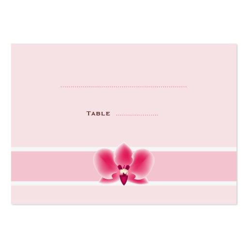 Rosa orchideen platzkarten visitenkarten vorlagen zazzle for Visitenkarten gratis vorlagen