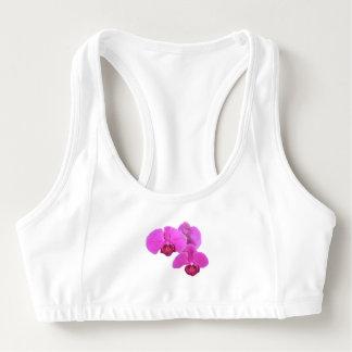 Rosa Orchideen Sport-BH