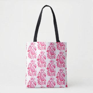 Rosa Paisley-Flamingo Tasche