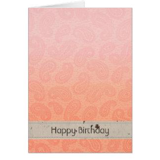 Rosa Paisley Karte