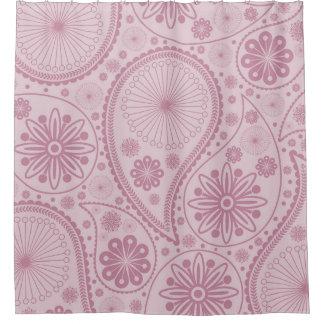 Rosa Paisley-Muster Duschvorhang