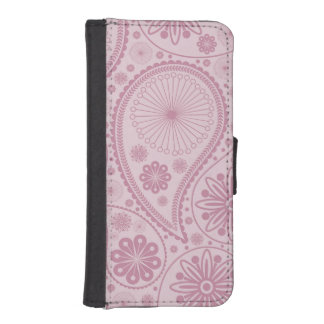 Rosa Paisley-Muster Geldbeutel Hülle Für Das iPhone SE/5/5s