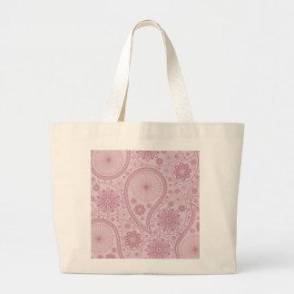 Rosa Paisley-Muster Jumbo Stoffbeutel