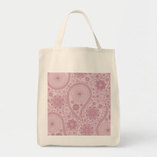 Rosa Paisley-Muster Tragetasche