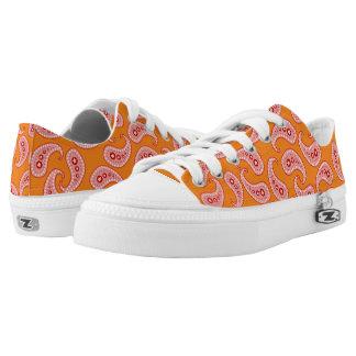 Rosa Paisley Niedrig-geschnittene Sneaker