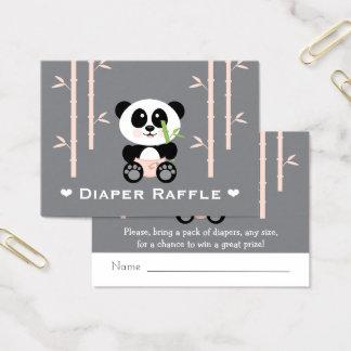 Rosa Panda-Windelraffle-Karten Visitenkarte