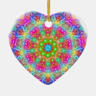 Rosa Paradies-Mandala-Entwurf Keramik Herz-Ornament