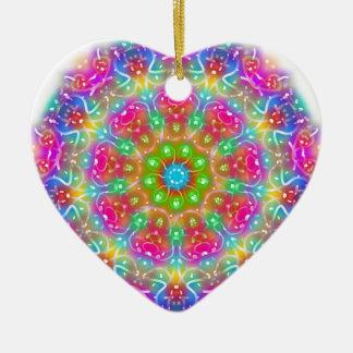 Rosa Paradies-Mandala-Entwurf Keramik Ornament