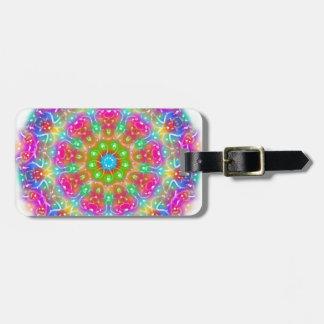Rosa Paradies-Mandala-Entwurf Kofferanhänger