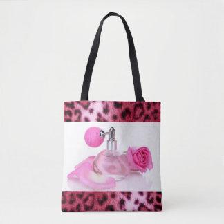 Rosa Parfüm-Spray-Flaschen-Leopard-Druck-Muster Tasche