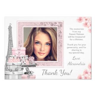 Rosa Paris-Bonbon 16 danken Ihnen Karten 11,4 X 15,9 Cm Einladungskarte