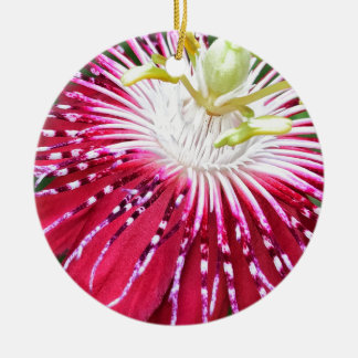 Rosa Passionflower Dble-versah Verzierung mit Keramik Ornament