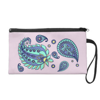Rosa Pastell-Paisley Bagettes Wristlet
