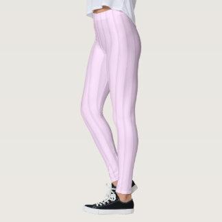 Rosa Pastell Stripes alle über Druck-Gamaschen Leggings
