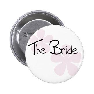 Rosa PastellBlumen die Braut Runder Button 5,7 Cm