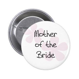 Rosa PastellBlumen-Mutter der Braut Runder Button 5,1 Cm