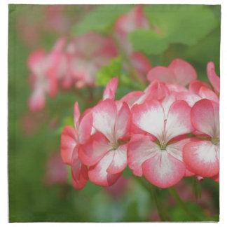 Rosa Pelargonie Stoffserviette