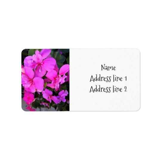 Rosa PelargonieAdressen-Etiketten Adressetikett