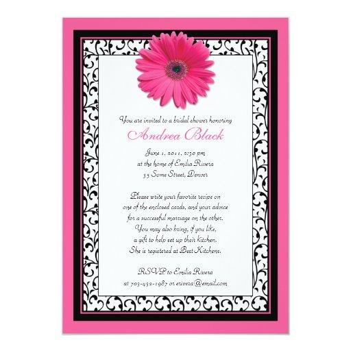 Rosa Personalisierte Einladungskarte