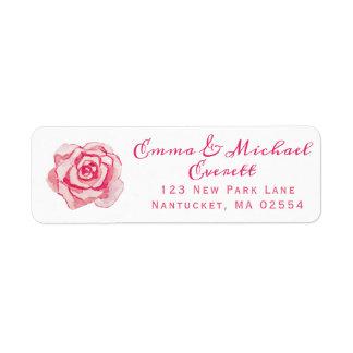 Rosa personalisierte Hochzeit der