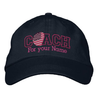 Rosa personalisierter amerikanischer Trainer mit Bestickte Baseballkappe