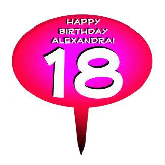 Rosa personalisierter Geburtstags-Kuchen-Deckel Torten Aufsatz