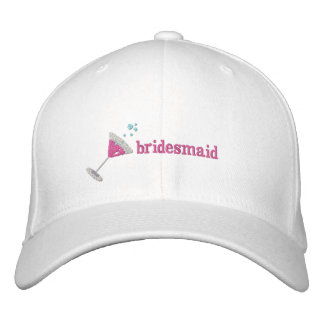 Rosa personalisierter gestickter Hut Martinis