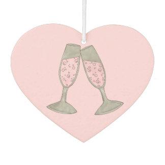 Rosa personalisiertes Wedding Brautparty Champagne Autolufterfrischer