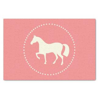 "Rosa Pferd/Pony 10"" x 15"" Seidenpapier bedeckt"