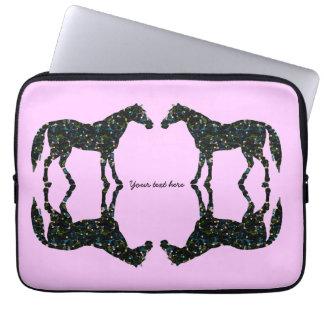 Rosa Pferdereflexions-Laptop-Hülse Laptop Sleeve