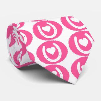 Rosa Pferdeschuh und -herz Krawatten