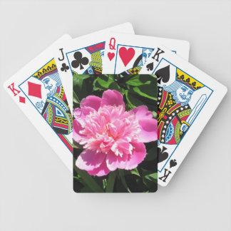 Rosa Pfingstrose Bicycle Spielkarten