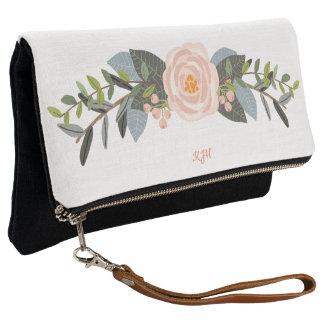 Rosa Pfingstrose Boho Blumenstrauß-Kupplung Clutch