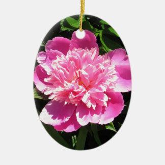 Rosa Pfingstrose Keramik Ornament