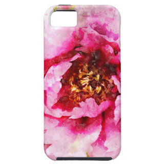 Rosa Pfingstrosen-Aquarell Hülle Fürs iPhone 5