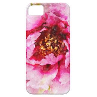 Rosa Pfingstrosen-Aquarell iPhone 5 Hülle