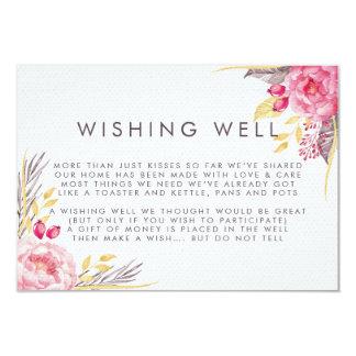 Rosa Pfingstrosen-Aquarell-wünschende wohle Karte