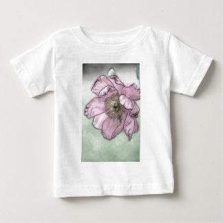 Rosa Pfingstrosen-Blumen-Skizze Baby T-shirt