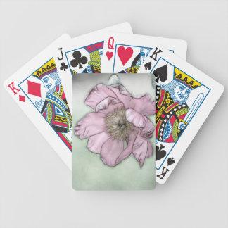 Rosa Pfingstrosen-Blumen-Skizze Bicycle Spielkarten