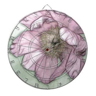 Rosa Pfingstrosen-Blumen-Skizze Dartscheibe