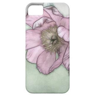 Rosa Pfingstrosen-Blumen-Skizze iPhone 5 Schutzhülle