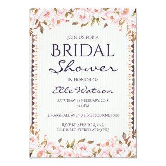 Rosa Pfingstrosen-Brautparty-Einladung, Wedding Karte