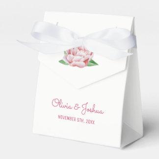 Rosa Pfingstrosen-Gastgeschenk Hochzeits-Kästen Geschenkschachtel